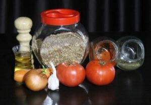Необходими продукти за рецепта за леща яхния